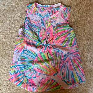 Lilly Pulitzer Silk Shirt Sz Sm
